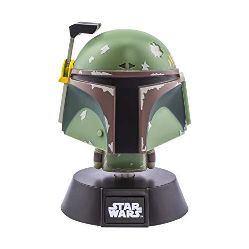 Paladone PP6379SW Star Wars Bobba Fett 3D Icon BDP | Carácter icónico Oficial de Disney Mandalorian | Empire Strikes Back | Luz Nocturna Brillante o lámpara de Escritorio, Verde