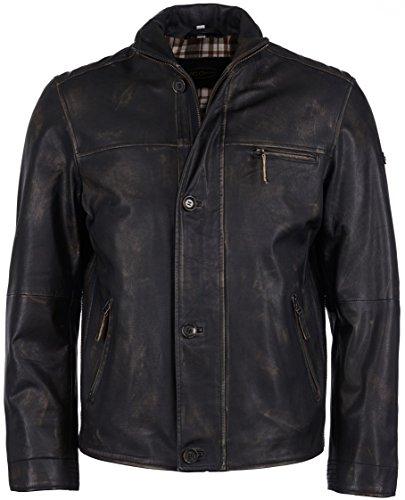 JCC Herren Lederjacke Im Used Look 1416 Black 48 Braun