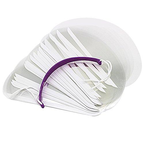 Demiawaking 50 Pezzi/Confezione Maschera Trasparente Protezioni per gli Occhi Copertura del Viso da Parrucchiere