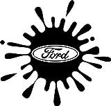 Autocollant motif éclaboussure pour Ford Focus, Fiesta, Mondeo, Galaxy, KA, RS, ST, UK
