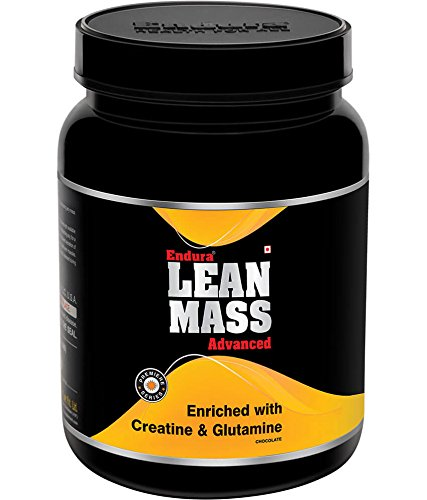 Endura Lean Mass Advanced enriched with Creatine & Glutamine | Mass Gainer | Lean Gainer | 55 g Carbohydrate, (1 Kg, Chocolate)