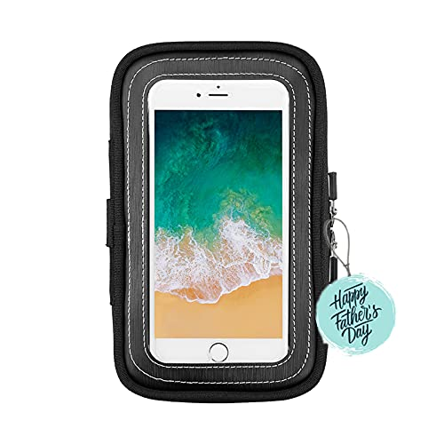 Motorcycle Magnetic Tank Bag, Sportbike Phone Pouch Case with 8 Strong Magnets Touch Screen for Cell phone up to 6.3 Inch
