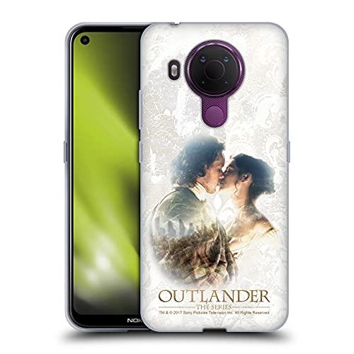 Head Case Designs Licenza Ufficiale Outlander Claire E Jamie Bacio Primi Piani Cover in Morbido Gel Compatibile con Nokia 5.4