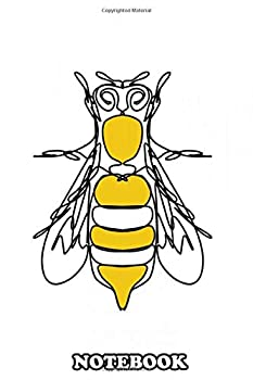 Notebook  Minimalist Insect In Lineart Bee In Lines  Journal for Writing College Ruled Size 6  x 9  110 Pages