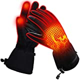 Heated Gloves for Men Women Electric Gloves Battery Heating Gloves Rechargeable XL