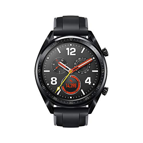HUAWEI Watch GT Sport,1.39' AMOLED Touchscreen, Bluetooth GPS Smartwatch, Ultra-Thin Longer Lasting Battery Life, 24/7 Continuous Heart Rate Monitor, Indoor and Outdoor Sports, 5ATM Waterproof