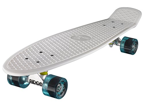 Ridge Skateboard Big Brother Nickel 69 cm Mini Cruiser, weiß/klar blau