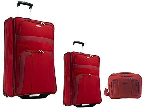 Travelite-Orlando , Set di valigie rosso rot M+S+FU