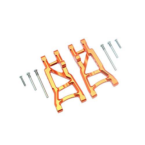 TwoCC Rc Zubehör, Aluminium Hinterer Unterarm Aluminium Hinterer Querlenker für Traxxas Slash 2Wd 1/10 Rc Auto Upgrade Teil (Orange)