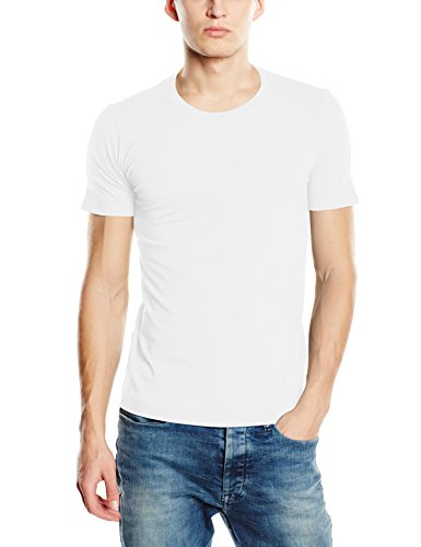 Stedman Apparel Clive (Crew Neck)/ST9600 Premium T-Shirt, Blanc (White), Medium Homme