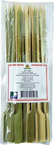 JADE TEMPLE Bambusspieße, 18 cm lang, für den einmaligen Gebrauch, 1 x 25 Stück pro Vorteilspackung