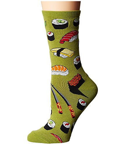 Socksmith Sushi Womens Fern Green Crew Socks