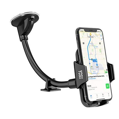YOSH Handyhalterung Auto Saugnapf für Windschutzscheibe Handyhalter fürs Auto Universal KFZ handyhalterung Smartphone Biz zum 6,5 Zoll für iPhone 11 Pro XS Max XR X 8, Samsung A10 A20 A40, Huawei P30