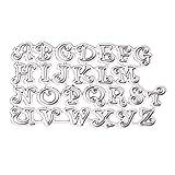 Fustelle Lettere Alfabeto Sizzix in Acciaio al Carbonio A-Z per Album di Carte Che Fanno Carta Artigianale