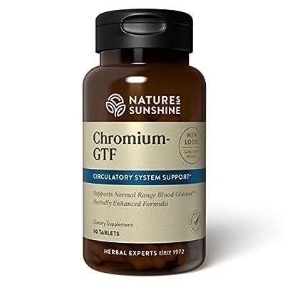 Nature's Sunshine Chromium GTF 300MCG, 90 Tablets