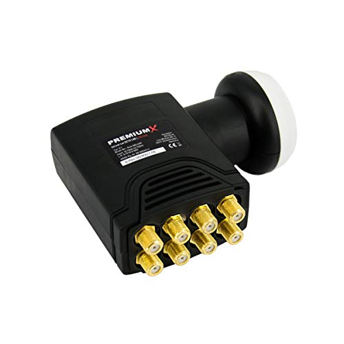 PremiumX Deluxe Octo LNB SAT met 8 Uitgangen voor 8 Satelliet-Ontvanger Digital DVB-S2 TV HD UHD 4K