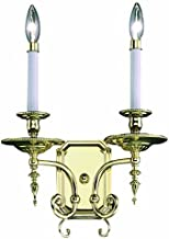 "product image for Framburg 7662 PB Kensington 2-Light Wall Sconce, 13.5"" x 6.5"" x 19"", Polished Brass"