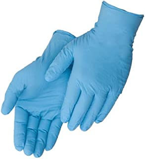Liberty Glove – Duraskin- T2010W Nitrile Industrial Glove, Powder Free, Disposable, 4 mil Thickness, Medium, Blue (Box of 100)