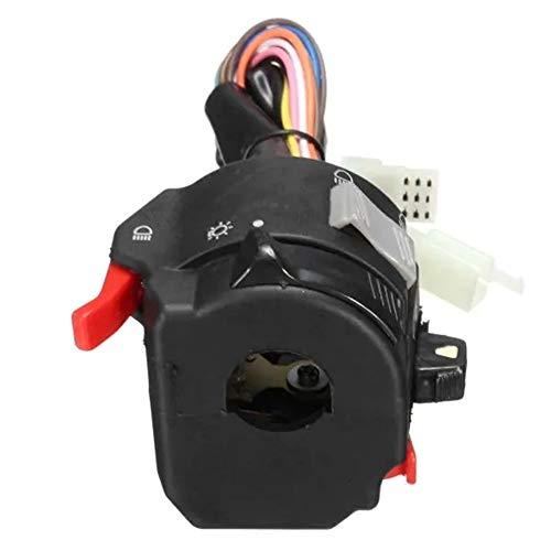 Interruptor del manillar, Interruptor de la motocicleta 12V Faro de inicio cuerno la señal de vuelta en forma en 7/8 pulgadas de 22 mm del lado izquierdo del manillar Interruptor del manillar En del i