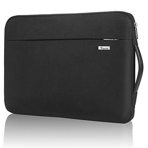 Voova 360°Schutz Laptoptasche Laptophülle 11 11.6 Zoll, Laptop Hülle Notebook Tasche für Surface Pro 7/Go 2,IPad pro 12.9 2021/MacBook air, 12 Zoll Tablet Sleeve Hülle Notebooktasche mit Handgriff-Schwarz