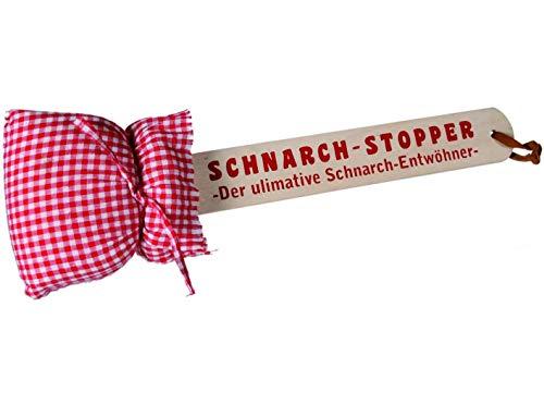 Bavaria Home Style Collection- Partyspiele - Gesellschaftspiele -Schnarch Stopper aus Holz mit Kissen, ca. 40 cm