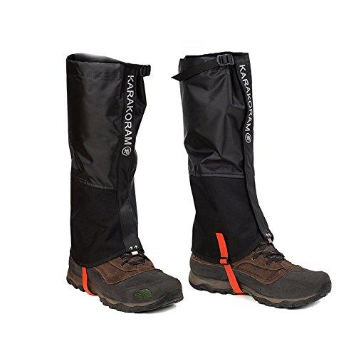 WEANAS Unisex Aire Libre para Adultos montaña de Nieve Legging Polainas, más Durable a Prueba de Viento Impermeable de la Cubierta Zapatos Calidez, (Nueva Negro, XL)