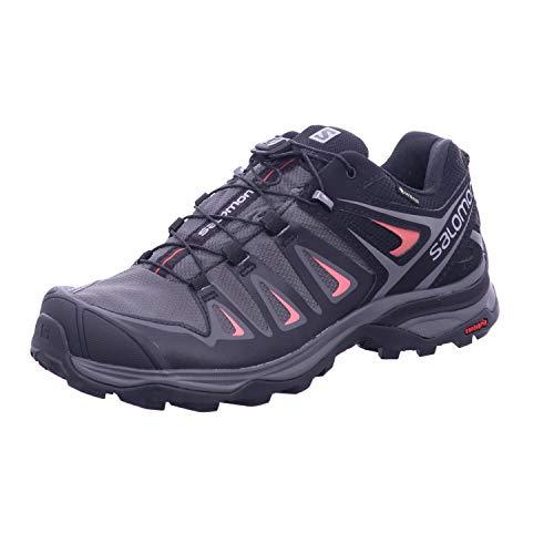SALOMON X Ultra 3 GTX W, Zapatillas de Senderismo Mujer, Magnet/Black/Mineral Red, 37 1/3 EU