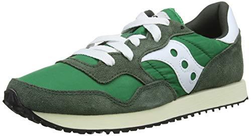 Saucony DXN Trainer Vintage, Zapatillas Hombre, Verde (Grn/Wht 3), 46.5 EU