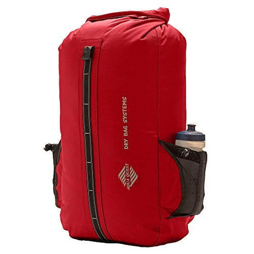 Aqua Quest SPORT 30 Waterproof Backpack Protects Laptop for Bike, Motorcycle, Boats, School, Students - Red