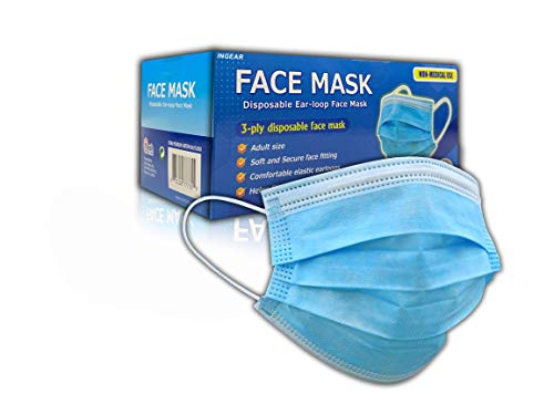 500 PCS Disposable Face Mask 3 Layer Anti-Dust Earloops Protective Cover Mask