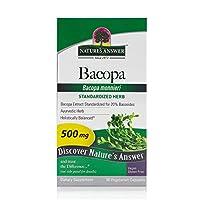 海外直送品 Nature's Answer Bacopa 500mg, 90 vcaps