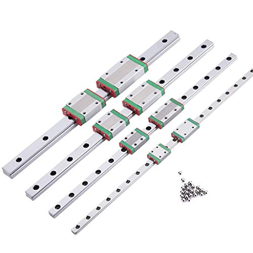 WGD Daoluogan 3D Printer Miniature Linear Rail Slide MGN7C MGN9C MGN12C MGN15C L 100 350 400 500 600 800mm 1pcs MGN Linear Guide MGN Carriage (Color : MGN12H, Size : 400mm)
