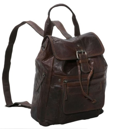 Jack Georges Spikes & Sparrow Leather Backpack in Brown