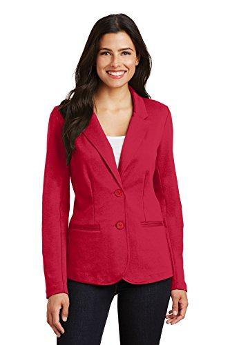 Port Authority Ladies Knit Blazer. LM2000 Rich Red M