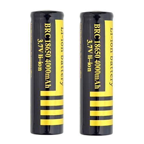 2/4 PCS 18650 Batterie 3.7V 4000Mah 18650 Hochleistungs Akku Wiederaufladbare Li-Ionen-BatterieButton Top Battery Pour für LED-Fernbedienung Elektronische Geräte Spielzeug Digitalkameras(2 PCS)
