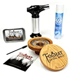 Foghat Cocktail Smoking Kit with Bourbon Barrel Oak, Foghat Fuel Wood Shavings & Smoking Torch |...