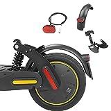 Fututech - Kit de suspensión trasera para patinete eléctrico Segway Ninebot Max G30 con amortiguador trasero + guardabarros + faro trasero, accesorios de patinete