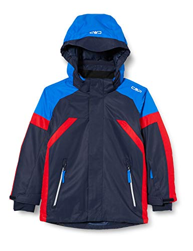 CMP Wasserdichte Skijacke WP 5.000, für Kinder, blau (Schwarz Blau), 140