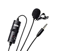 Boya BYM1 Omnidirectional Lavalier Condenser Microphone with 20ft Audio Cable (Black),Boya,BYM1