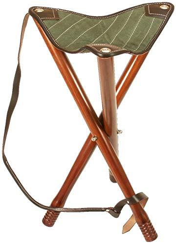 Fritzmann - Silla de 3 patas (55 cm, plegable), color verde y marrón