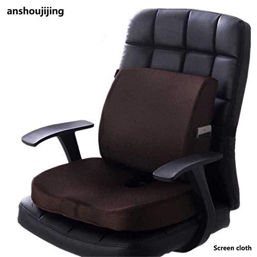 anshoujijing Autostoel Kussen Lumbale Rugkussen Staartbeen Orthopedisch Traagschuim Massagemat Massage Taille Taille Ondersteuning Voor Thuiskantoorstoel Koffie B