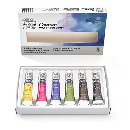 Oferta de Winsor & Newton acuarela Cotman - Caja de acuarela en tubo - set de 6 tubos de 8 ml, colores surtidos
