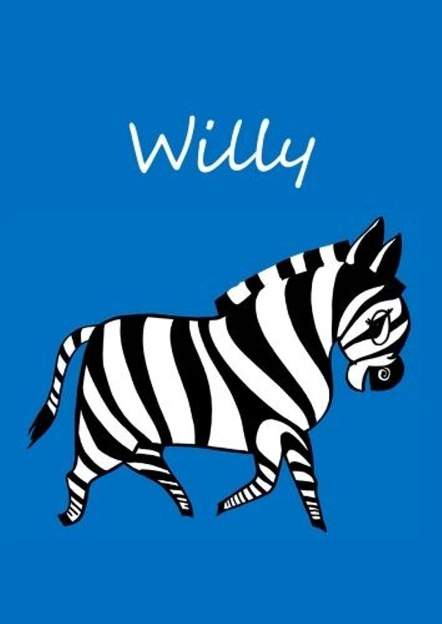 九時四十五分ねじれ重さWilly: individualisiertes Malbuch / Notizbuch / Tagebuch - Zebra - A4 - blanko