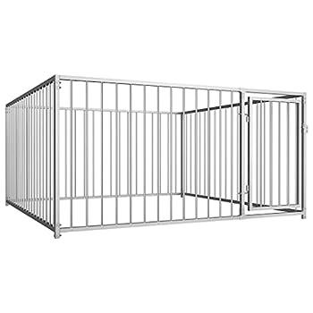 vidaXL Chenil d'Extérieur pour Chiens 2x2x1m Animaux Enclos Cage Niche Clôture
