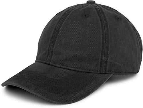 styleBREAKER 6-Panel Vintage Cap im Washed, Used Look, Baseball Cap, verstellbar, Unisex 04023054, Farbe:Schwarz