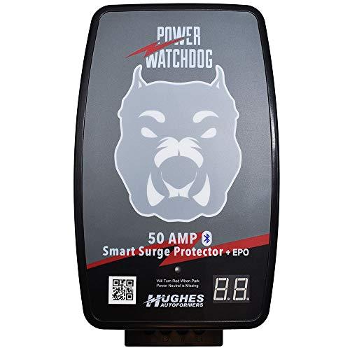 Hughes Autoformers PWD50-EPO-H Power Watchdog Hardwired RV Auto Shutoff Smart Bluetooth Electrical Surge Protector, 50 Amp