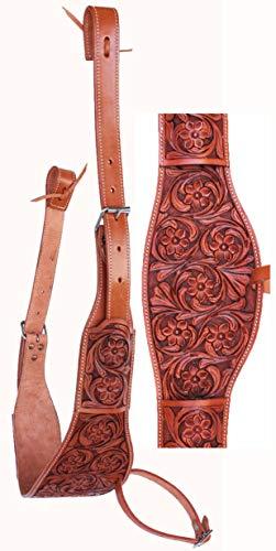 CHALLENGER Horse Western Floral Tooled Leather Rear Flank Saddle Cinch w/Billets 9772FL