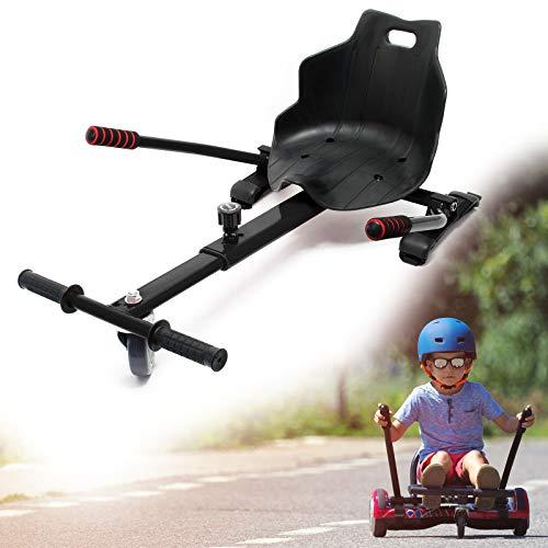 Wiltec Sedile per Hoverboard Regolabile in Nero capacità di carico Fino a 120 kg Scooter Elettrico