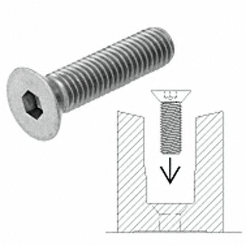 CRL/Blumcraft Fastener 1/2'-13 x 1-1/2' Flat Head Socket Screw for RG200 Base Shoe
