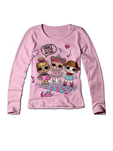 LOL SURPRISE T-Shirt 20756 Bambina in Cotone bielastico Girocollo Natale 2018 (Blu, 6 Anni)